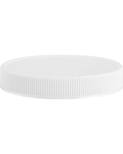 70mm 70-400 White Ribbed (Matte Top) Plastic Cap w/PS22 Liner (Printed)