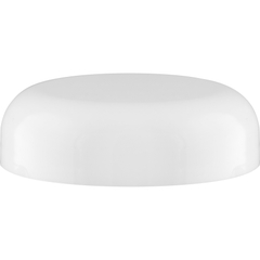 70mm 70-400 White Plastic Dome Cap, Foam Liner