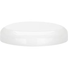 70mm 70-400 White Plastic Dome Cap, Unlined