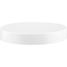 70mm 70-400 White Smooth Plastic Cap w/Foam Liner (3-ply)