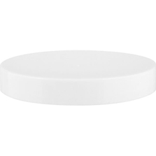 70mm 70-400 White Smooth Plastic Cap, Unlined