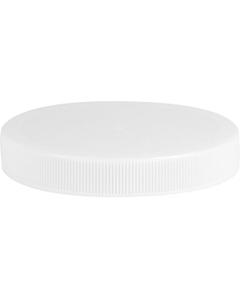 83mm 83-400 White Ribbed (Matte Top) Plastic Cap w/Foam Liner (3-ply)