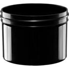 8 oz. Black Plastic Jar, Straight Sided, 89mm 89-400