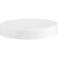 89mm 89-400 White Smooth Plastic Cap w/Foam Liner (3-ply)