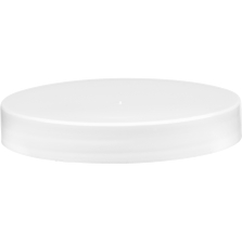 89mm 89-400 White Smooth Plastic Cap, Unlined