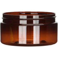 8 oz. Amber PET Plastic Jar, Straight Sided, 89mm 89-400