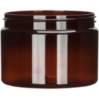 12 oz. Amber PET Plastic Jar, Straight Sided, 89mm 89-400