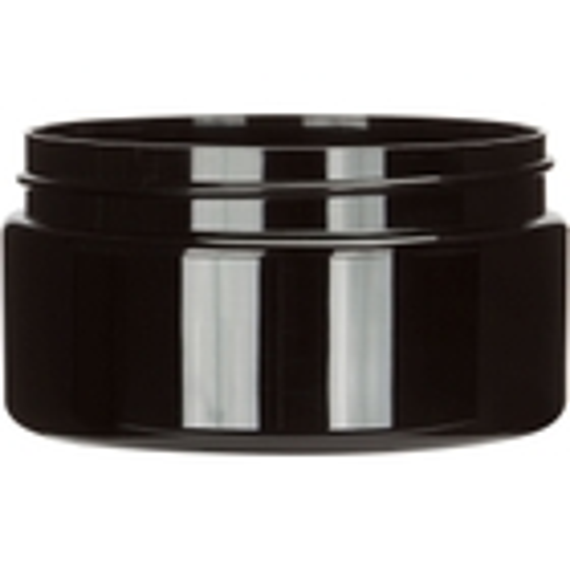 8 oz. Black PET Plastic Jar, Straight Sided, 89mm 89-400
