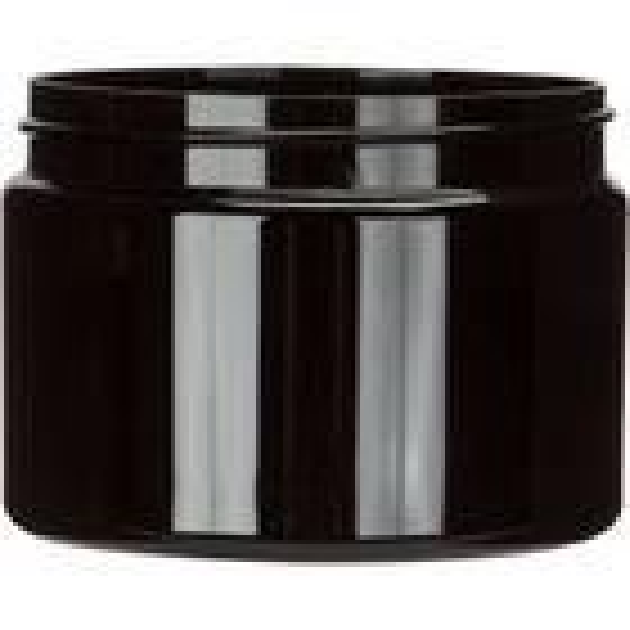 12 oz. Black PET Plastic Jar, Straight Sided, 89mm 89-400