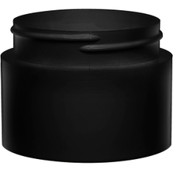 3 oz. Black PP Plastic Open Bottom Jar, 63mm 63-400