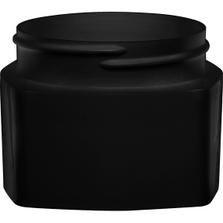 3 oz. Black PP Plastic Square Open Bottom Jar, 63mm 63-400