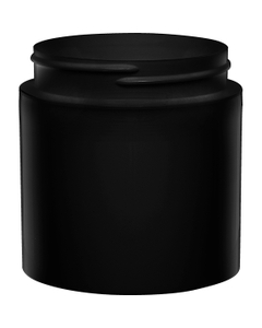 6 oz. Black PP Plastic Open Bottom Jar, 70mm 70-400