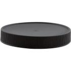 83mm 83-400 Black Ribbed (Matte Top) Plastic Cap w/Foam Liner (3-ply)