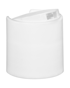 """28mm 28-410 White Smooth Disc Top Cap, Unlined, 0.325"""" x 0.125"""" Orifice, Valve Seal"""