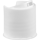 """24mm 24-410 White Ribbed Disc Top Cap, Unlined, .312""""x.110"""" Orifice, Valve Seal"""