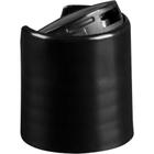 "20mm 20-410 Black Smooth Disc Top Cap, Unlined, 0.270"" x 0.110"" Orifice, Valve Seal"