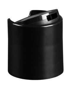 "24mm 24-410 Black Smooth Disc Top Cap, Unlined, .308""x.110"" Orifice, Valve Seal"