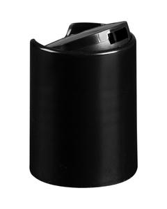 "24mm 24-415 Black Smooth Disc Top Cap, Unlined, .308""x.110"" Orifice, Valve Seal"
