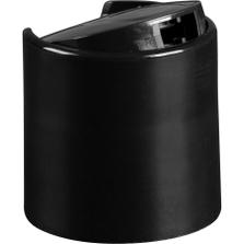 "28mm 28-410 Black Smooth Disc Top Cap, Unlined, .325""x.165"" Orifice, Valve Seal"