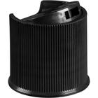 "24mm 24-410 Black Ribbed Disc Top Cap, Unlined, .312""x.110"" Orifice, Valve Seal"