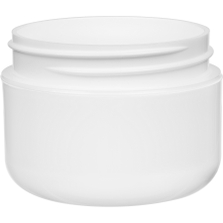 1 oz. White PP Plastic Wide Mouth Jar, Double Wall, 53mm 53-400
