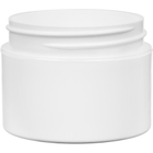 1 oz. White PP Plastic Jar, Double Wall, Straight Sided, 53mm 53-400