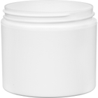 4 oz. White PP Plastic Jar, Double Wall, Straight Sided, 70mm 70-400