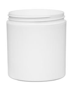 6 oz. White PP Plastic Jar, Double Wall, Straight Sided, 70mm 70-400