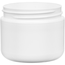 2 oz. White PP Plastic Wide Mouth Jar, Double Wall, 58mm 58-400, 21 Grams