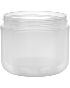 4 oz. Natural PP Plastic Wide Mouth Jar, Double Wall, 70mm 70-400, 33 Grams