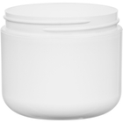 4 oz. White PP Plastic Wide Mouth Jar, Double Wall, 70mm 70-400, 33 Grams
