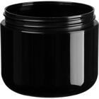 4 oz. Black PP Plastic Wide Mouth Jar, Double Wall, 70mm 70-400, 33 Grams