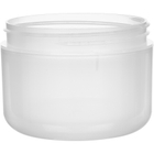 8 oz. Natural PP Plastic Wide Mouth Jar, Double Wall, 89mm 89-400, 48 Grams