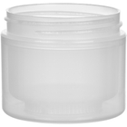 2 oz. Natural PP Plastic Jar, Double Wall, Straight Sided, 58mm 58-400, 21 Grams
