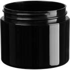 2 oz. Black PP Plastic Jar, Double Wall, Straight Sided, 58mm 58-400, 21 Grams