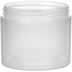 4 oz. Natural PP Plastic Jar, Double Wall, Straight Sided, 70mm 70-400, 34 Grams
