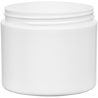 4 oz. White PP Plastic Jar, Double Wall, Straight Sided, 70mm 70-400, 34 Grams