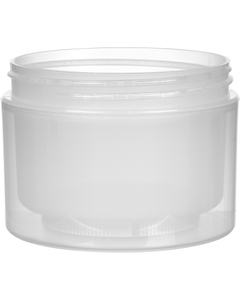 8 oz. Natural PP Plastic Jar, Double Wall, Straight Sided, 89mm 89-400, 48 Grams