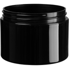 8 oz. Black PP Plastic Jar, Double Wall, Straight Sided, 89mm 89-400, 48 Grams