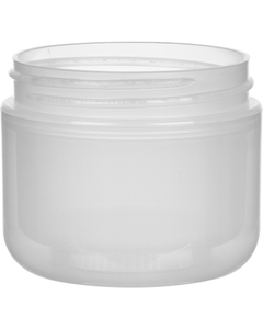 2 oz. Natural PP Plastic Wide Mouth Jar, Double Wall, 58mm 58-400, 21 Grams