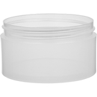 6 oz. Clarified Natural PP Plastic Jar, Thick Wall, Straight Sided, 89mm 89-400