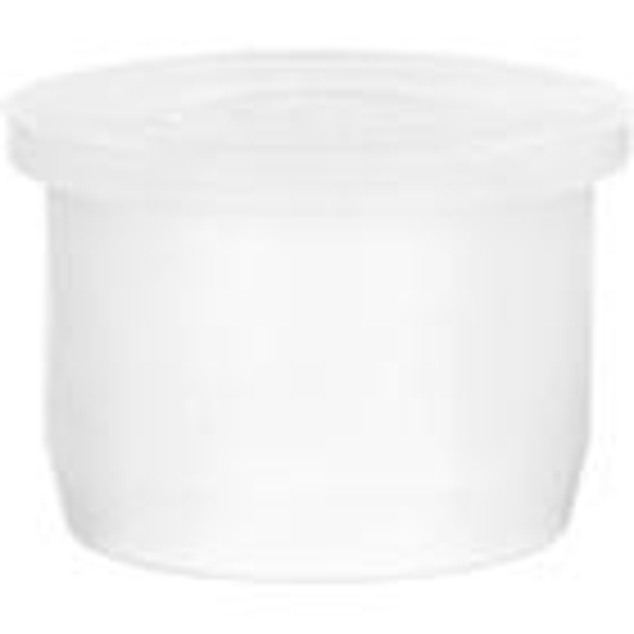 "24mm White LDPE Plastic Orifice Reducer Fitment, 0.034"" Orifice"