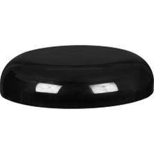 70mm 70-400 Black Plastic Dome Cap w/Pressure Sensitive Liner (Printed)
