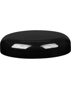 89mm 89-400 Black Plastic Dome Cap, Pressure Sensitive Liner