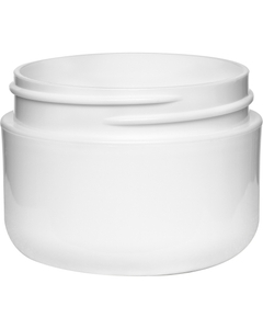 1 oz. White PP/HDPE Plastic Wide Mouth Jar, Double Wall, 53mm 53-400, 18 Grams
