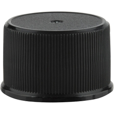 24mm 24-410 Black Ribbed (Matte Top) Plastic Cap w/HIS for PET/PVC