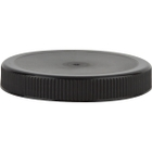 70mm 70-400 Black Ribbed (Matte Top) Plastic Cap w/HIS for PET/PVC