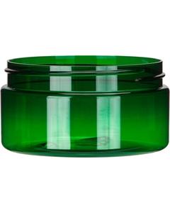 8 oz. Green PET Plastic Jar, Straight Sided, 89mm 89-400