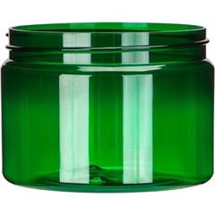 12 oz. Green PET Plastic Jar, Straight Sided, 89mm 89-400