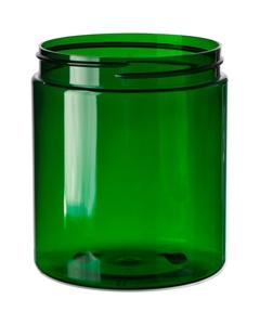20 oz. Green PET Plastic Jar, Straight Sided, 89mm 89-400